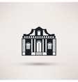 Museum building Art icon flat isolated vector image