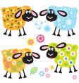 set with sheep seasonal vector image vector image