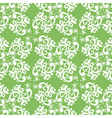 ornate green white seamless pattern vector image