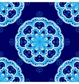 Abstract ornamental snowflake pattern vector image vector image