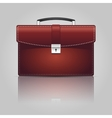 Red briefcase vector image