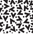 Black And White Graphic Seamless Pattern vector image