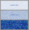 Blue tiled triangle mosaic banner design set vector image