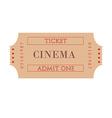 Cinema ticket vector image
