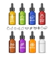 Colorful E-liquid Bottle Set vector image