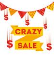 crazy sale vector image