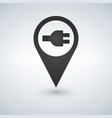 electric charge station map pointer pin vector image