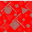 Festive pattern of geometric shapes vector image