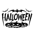 graphic halloween vector image