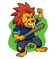 Mad Lion vector image