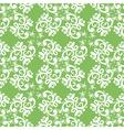 ornate green white seamless pattern vector image