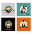Set of 16 halloween costume characters and kids vector image