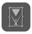 The billiard table icon Game symbol Flat vector image