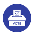 Voting paper with approved checkmark icon vector image