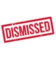 Dismissed rubber stamp vector image