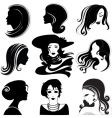 portrait silhouettes vector image
