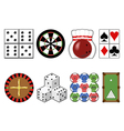 Set casino tools vector image vector image