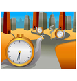 Snail clock moving direction vector image