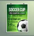 soccer league sports event flyer design vector image