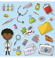African-American Doctor With Tools vector image