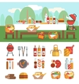 BBQ party banner set vector image