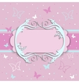 pink card for girls vector image