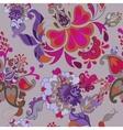 Decorative floral boho seamless pattern vector image