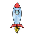 rocket spacehip isolated vector image