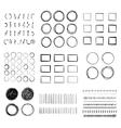 Big set of hand-drawn doodle design elements vector image