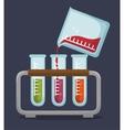 set test tube rack liquid vector image