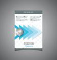 brochure design template 2806 vector image