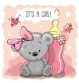 Cute Cartoon Bear girl vector image