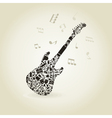 Art a guitar vector image