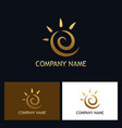 gold abstract swirl logo vector image