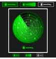 Radar property search vector image