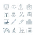 Medical Thin Line Icons vector image