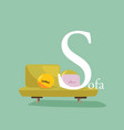 Colourful Alphabet Card vector image