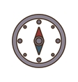 cartoon compass location gps travel vector image