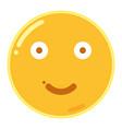 emoji of smiley face in flat design icon vector image