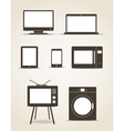 Gadgets and kitchen technics vector image