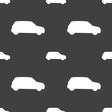 Jeep icon sign Seamless pattern on a gray vector image