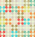 Pattern made from colorful scraps Vintage color vector image