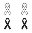ribbon sign icons set vector image