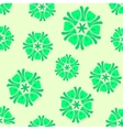 Seamless green background boho chic vector image