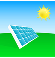 solar power plant vector image