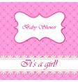 Polka dot flowers baby shower girl vector image