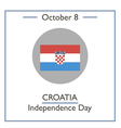 Croatia Independence Day vector image