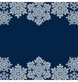 lace snowflakes borders vector image