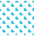 Blue wakeboarding boot pattern cartoon style vector image