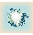 cyan abstract background vector image vector image